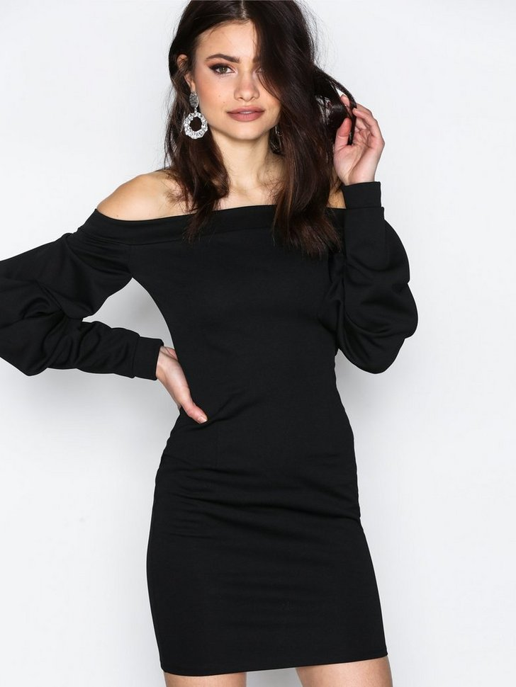 Oversize Sleeve Dress køb festkjole