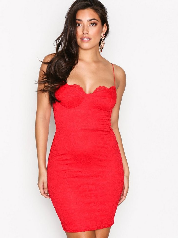 Cocktailkjole festkjole Lace Bodycon Dress festtøj