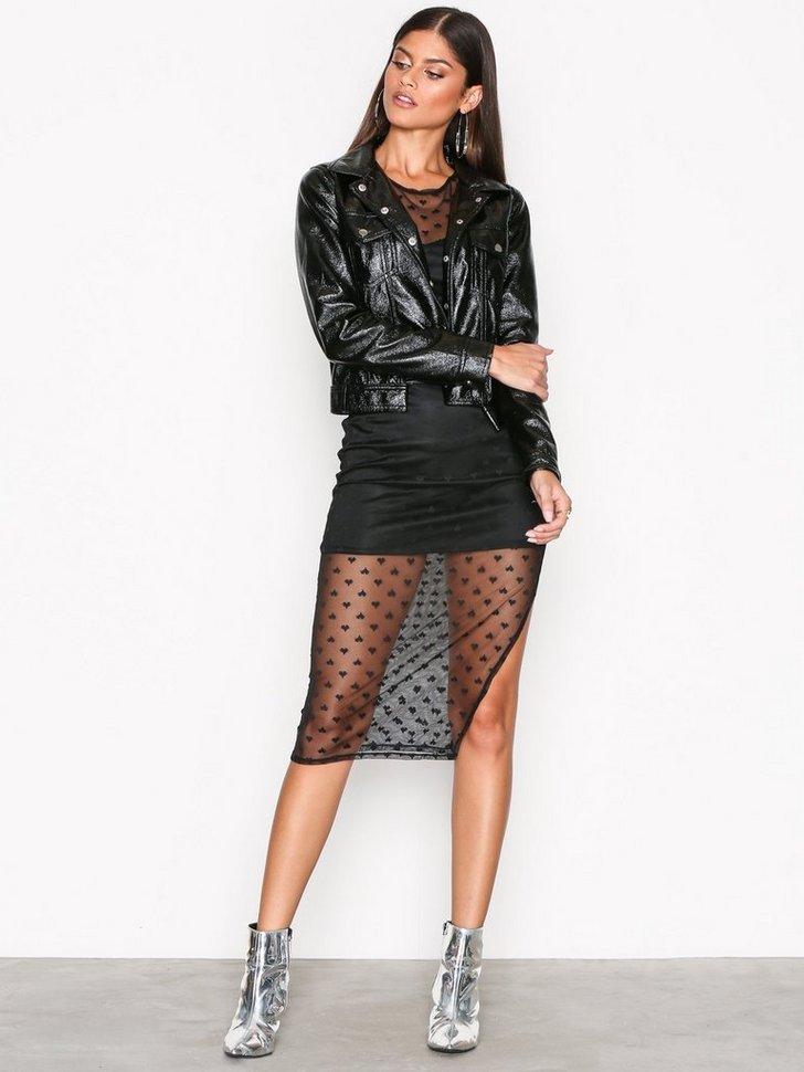 Heart Mesh Midi Dress køb festkjole