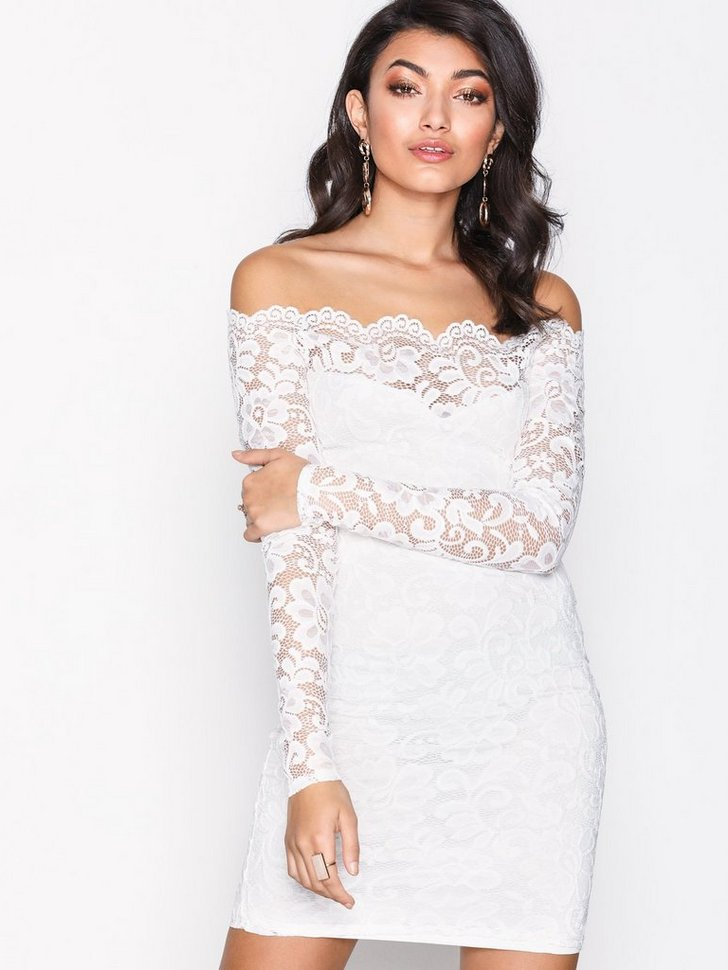 Lace Off Shoulder Dress køb festkjole