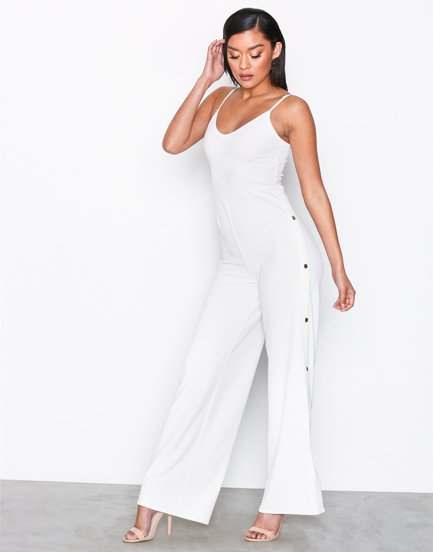 Side Button Jumpsuit by Nly One