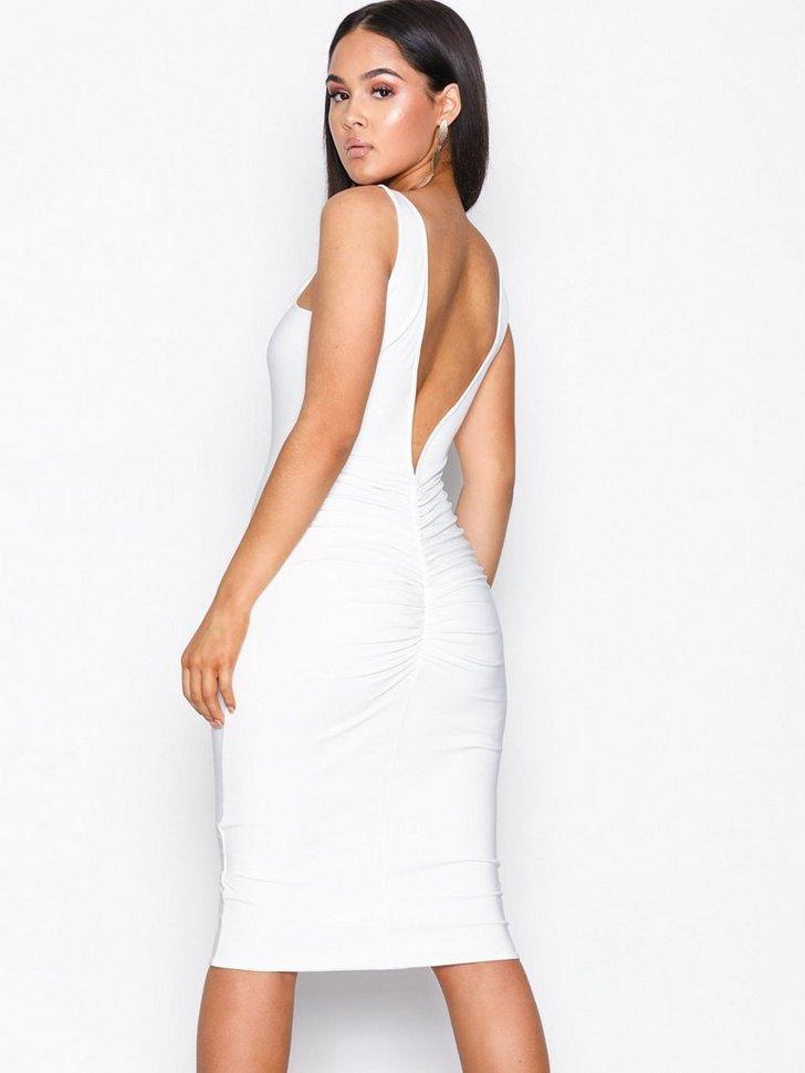 Double Layer Ruched Dress køb festkjole