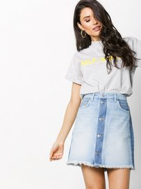 69599c9d Janni Denim Skirt - Norr - Light Blue - Skirts - Clothing - Women -  Nelly.com