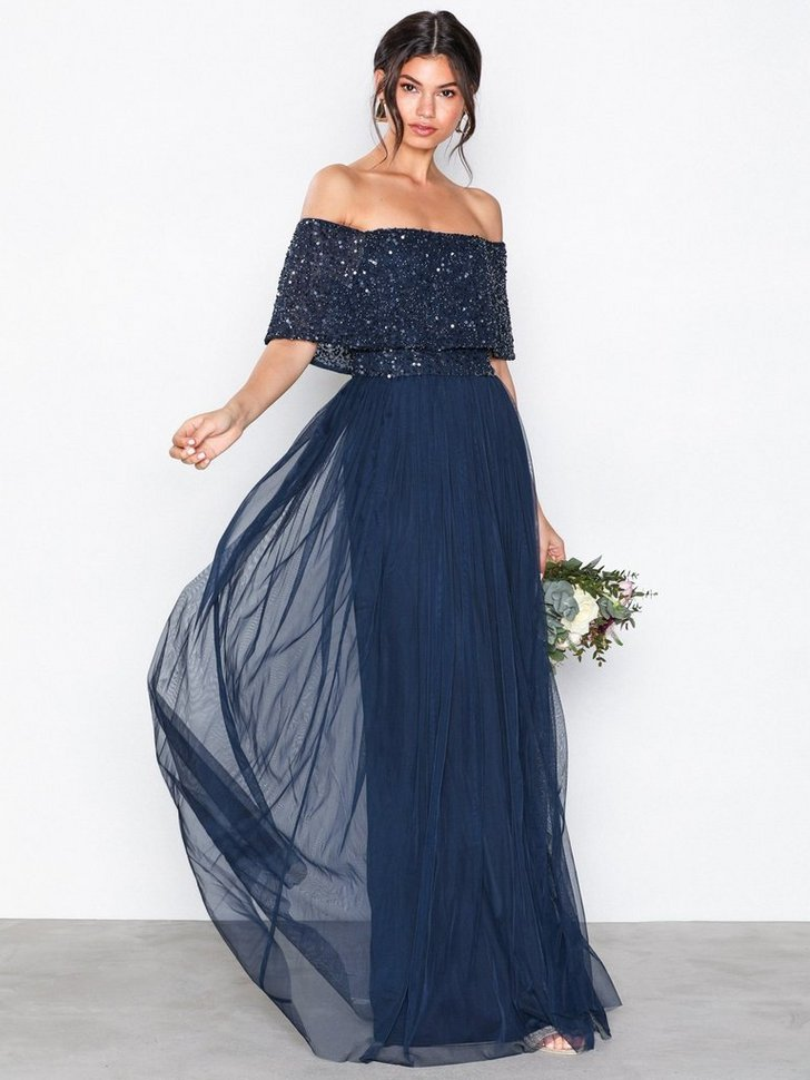 Bardot Delicate Sequin Maxi Dress køb festkjole