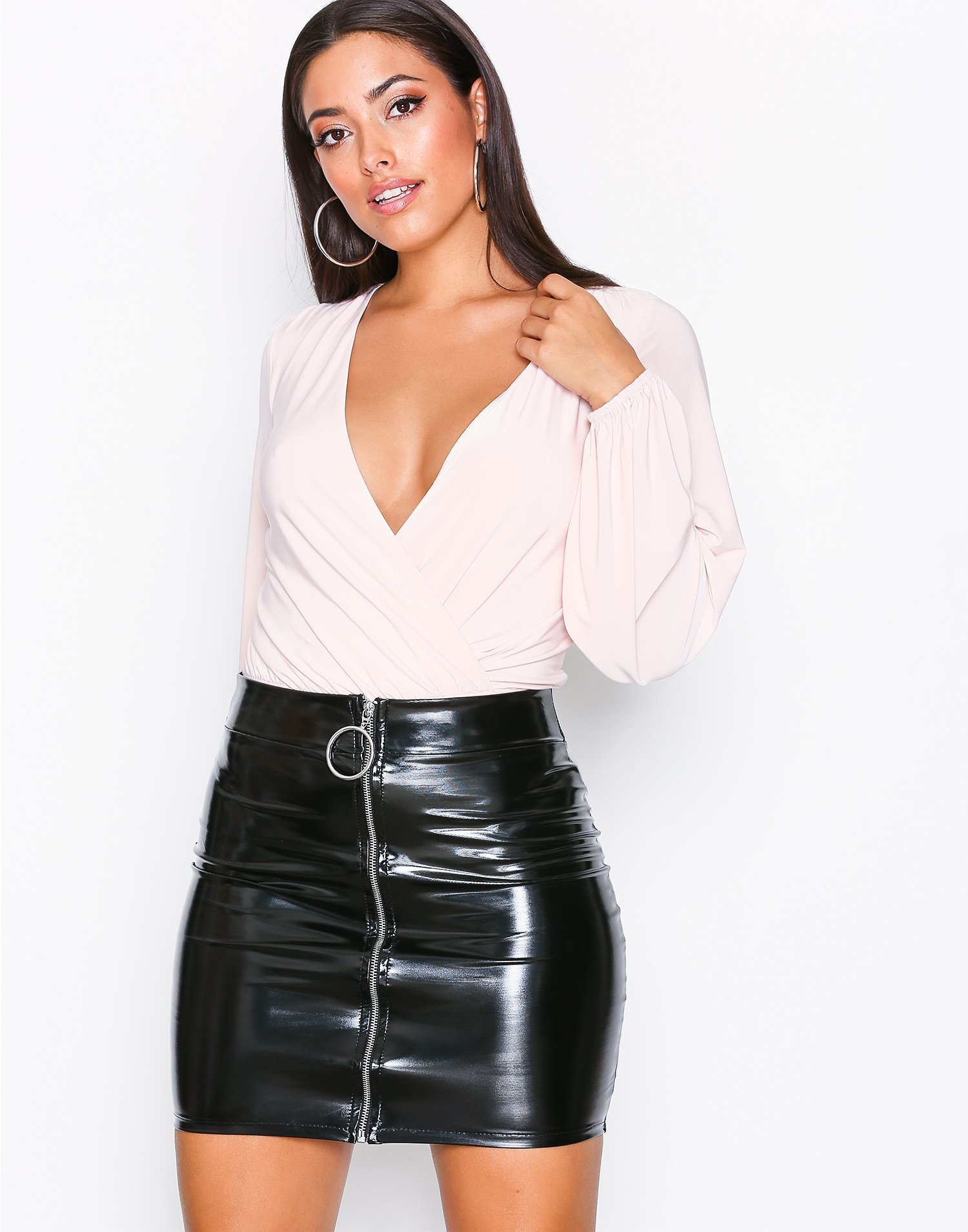 Patent Zip Skirt by Nly One