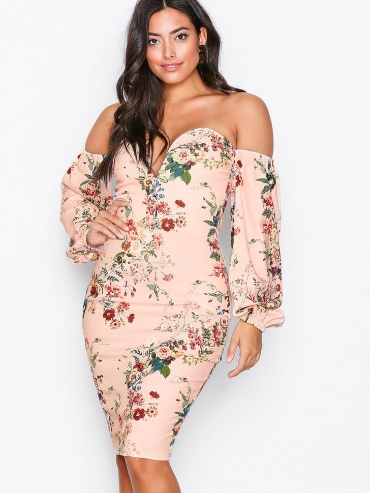 Boob Tube Print Dress køb festkjole