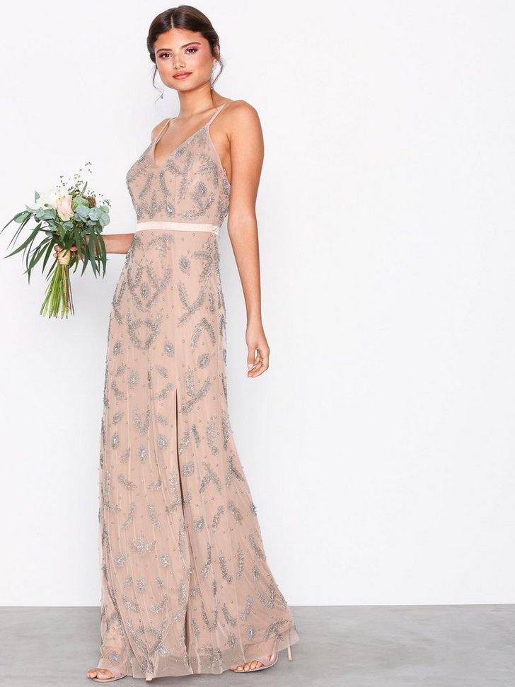 Gallakjole festkjole Heavily Embellished Cami Maxi Dress festtøj