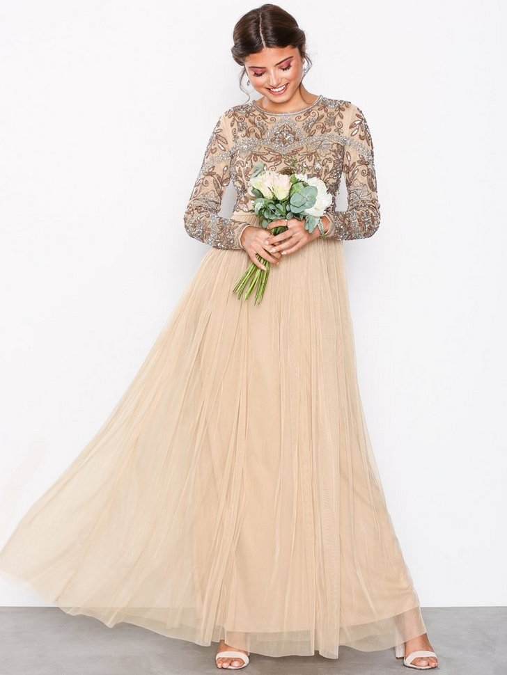Embellished Bodice Maxi Dress køb festkjole