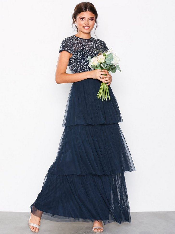 Nelly.com SE - Layered Cap Sleeve Maxi Dress 1248.00