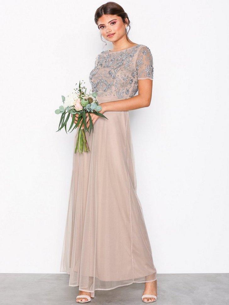 Gallakjole festkjole Short Sleeve Maxi Dress festtøj