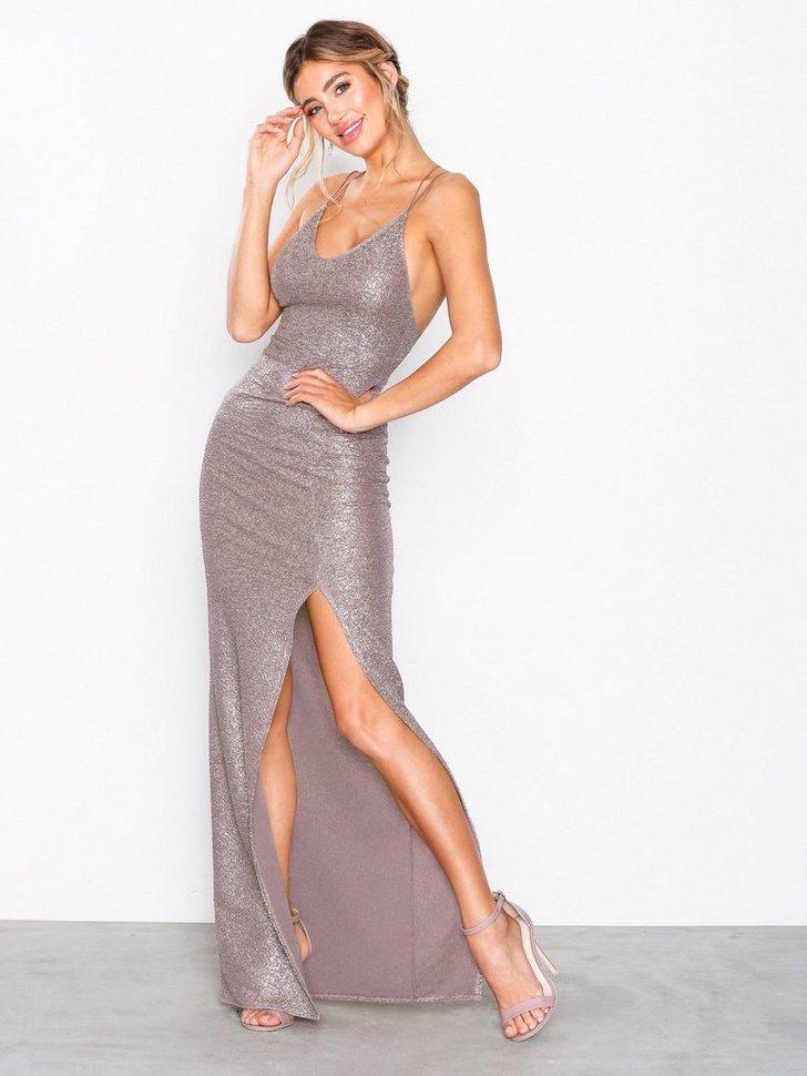 Tight Strappy Gold Dress køb festkjole