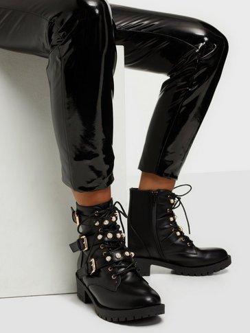 Bianco - Pearl Biker Boot