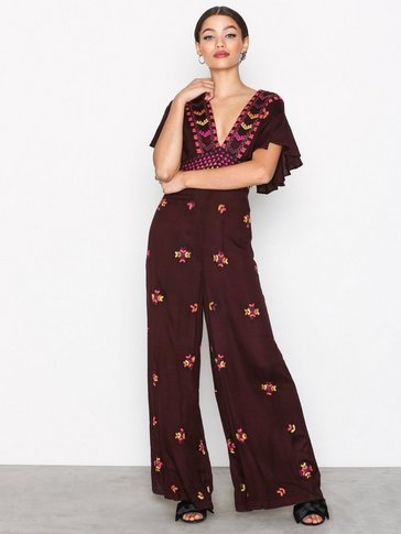 Free People - Cleo Embr Jumpsuit