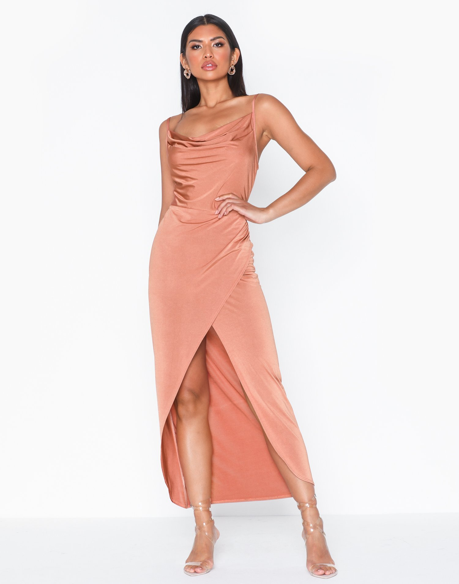 Cowl Wrap Skirt Dress by Nly One