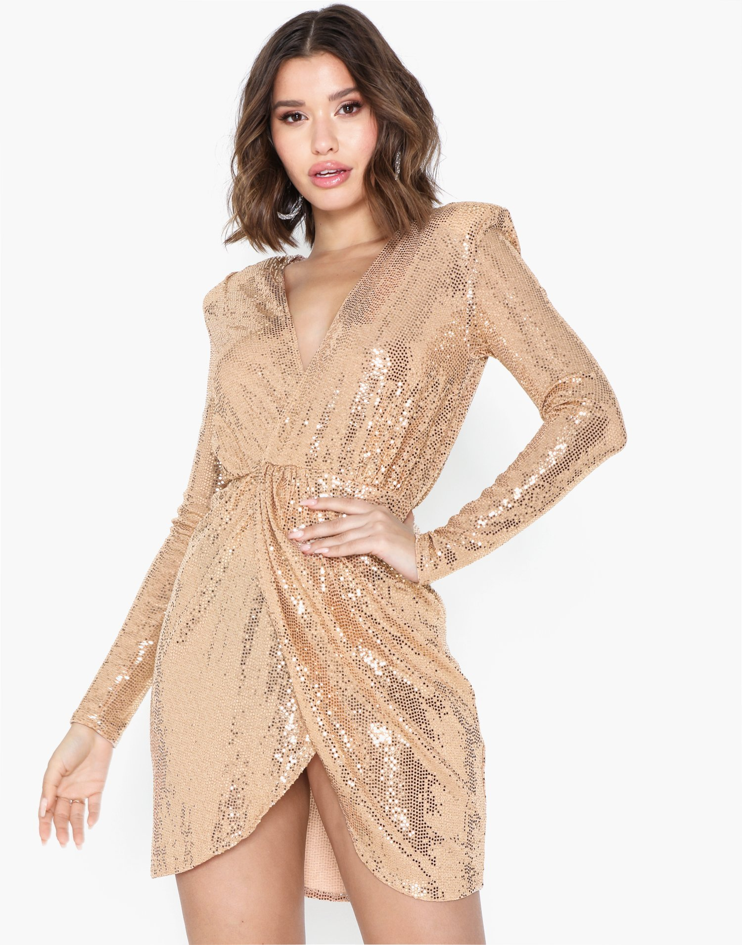 Wrap Sequin Dress by Nly One