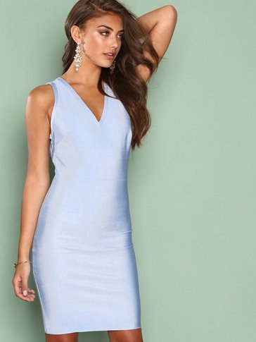 Wow Couture - Strap Detail Back Bodycon Dress