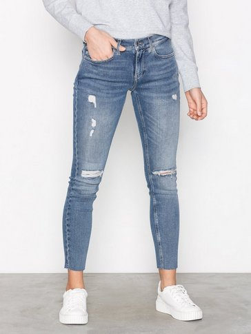 Calvin Klein Jeans - Mid Rise Skinny Ankle Raw Thermal