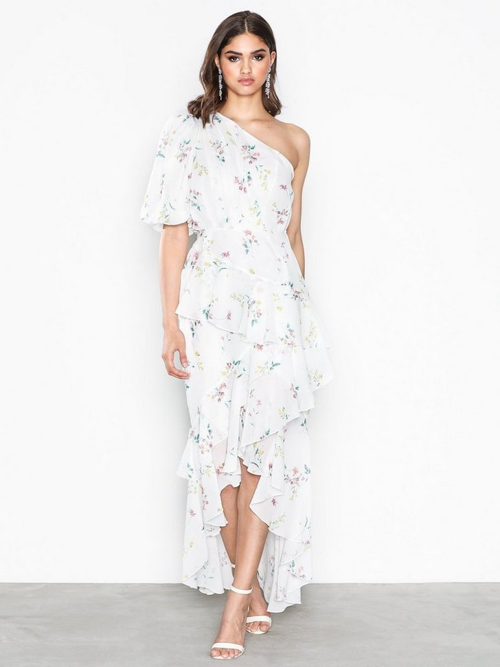 Dropped Frill Dress køb festkjole