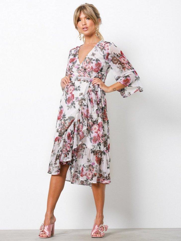 Frill Wrap Dress køb festkjole