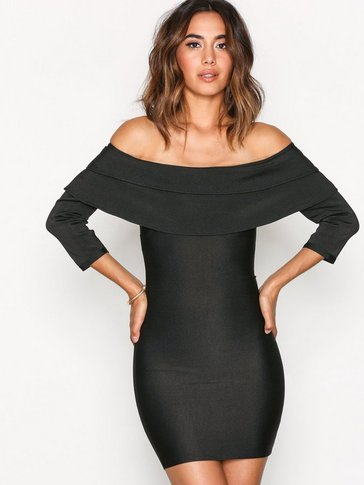 Wow Couture - Off-Shoulder Bandage Dres