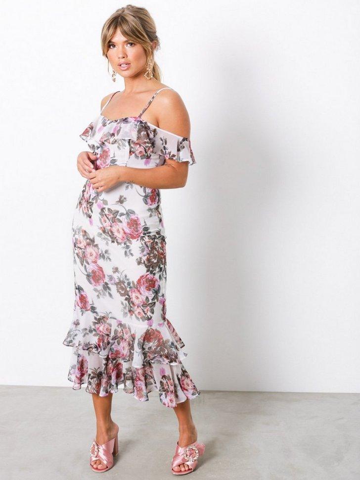Frill Shoulder Dress køb festkjole