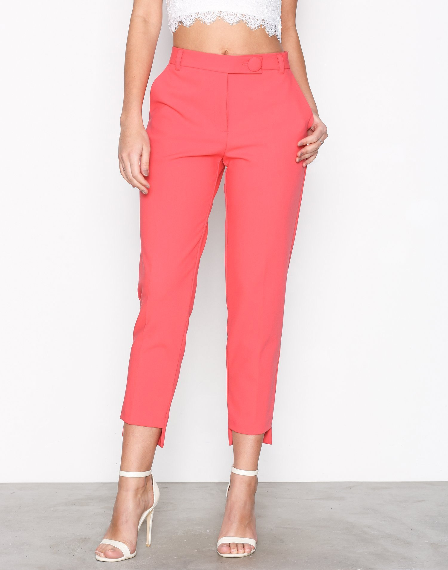 Stepped Hem Cigarette Trousers by River Island