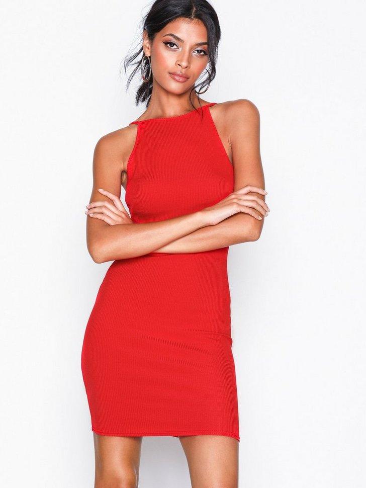 Ribbed Sleeveless Dress køb festkjole