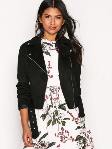 New Look - Suedette Biker Jacket