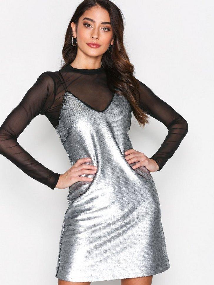 Matte Sequin Slip Dress køb festkjole