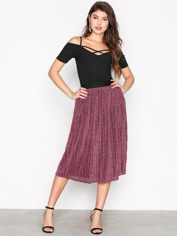 New Look - Glitter Pleated Midi Skirt