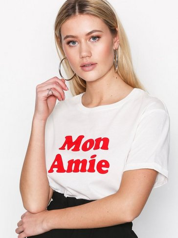 New Look - Mon Amie Flock Print T-Shirt