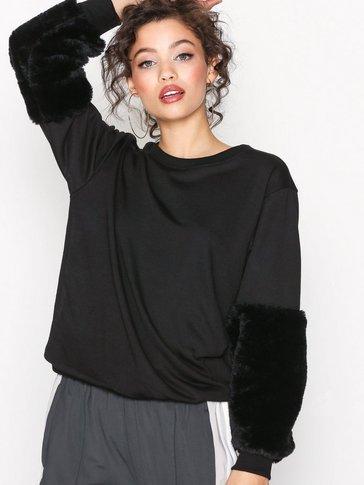 New Look - Faux Fur Sleeve Sweatshirt