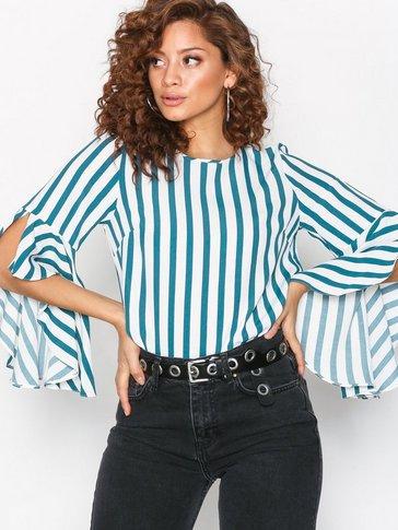 New Look - Stripe Bell Sleeve Top