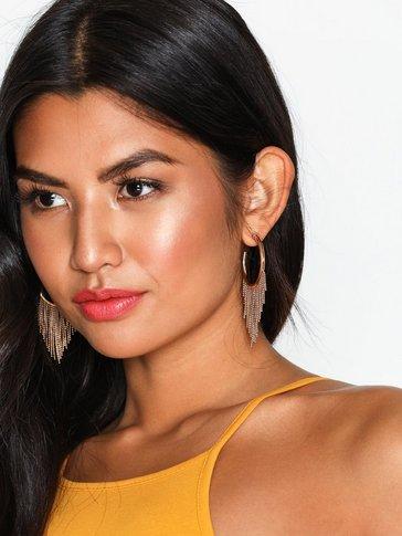 New Look - Chain Trim Hoop Earrings