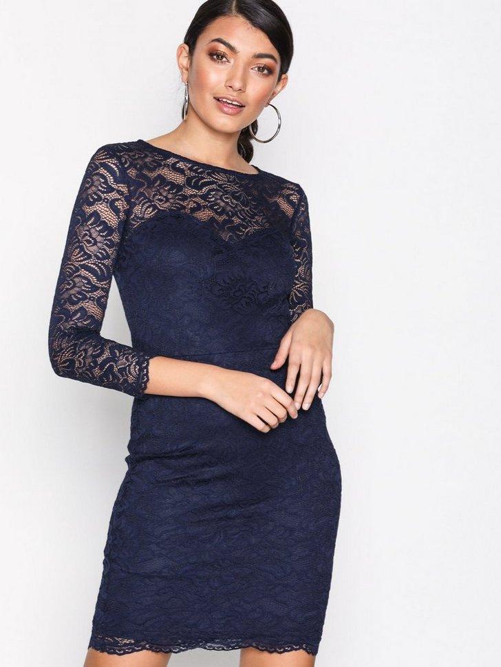 Lace Sweetheart Neck Bodycon Dress køb festkjole
