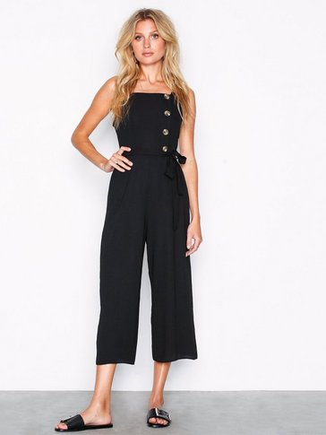 New Look - Linen-Look Button Side Culotte Jumpsuit