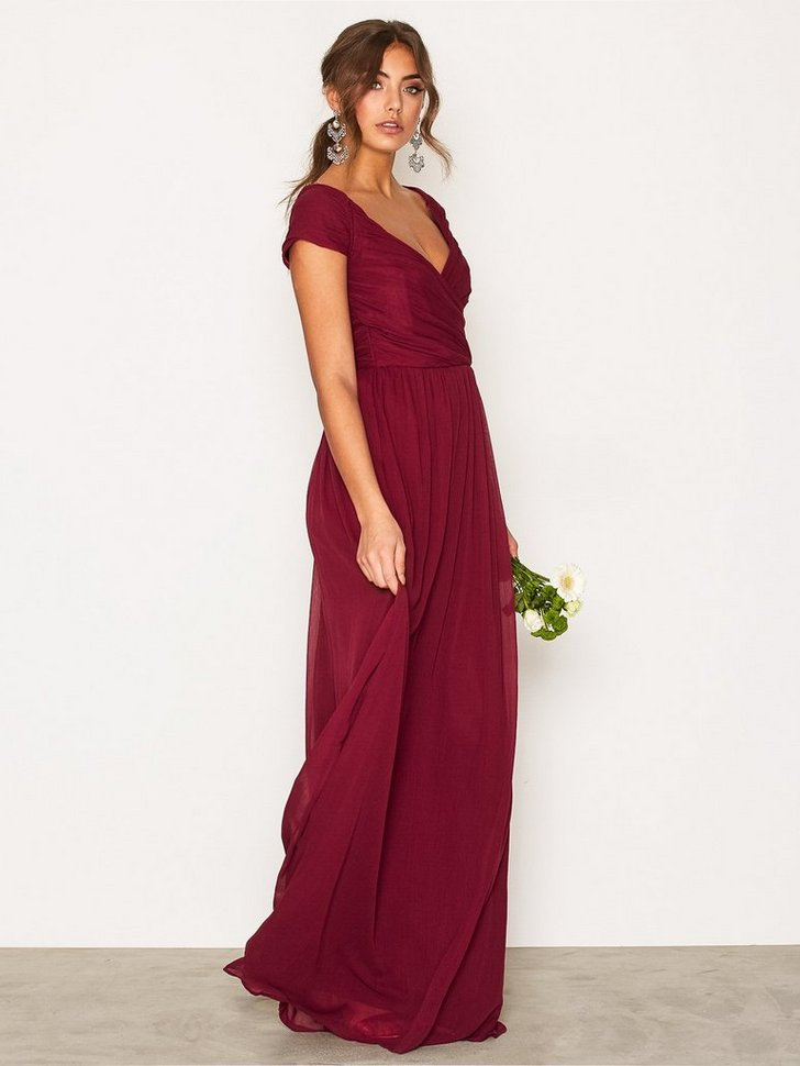 Cup Sleeve Maxi Dress