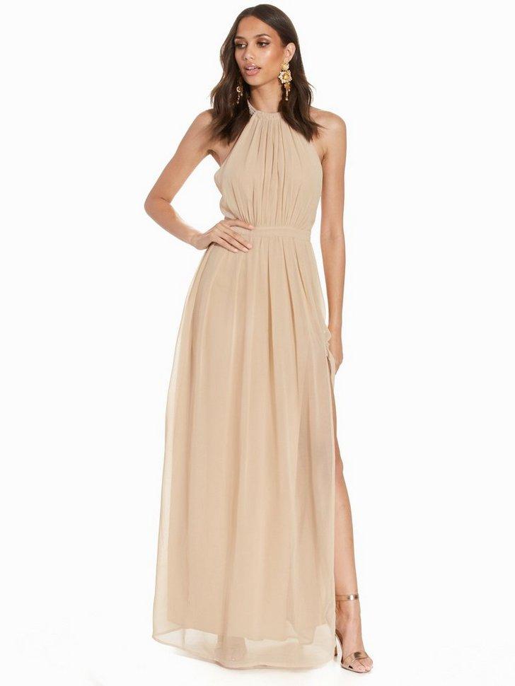 Halterneck Beaded Gown køb festkjole