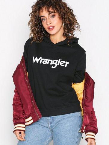 Wrangler - LOGO HOODIE BLACK
