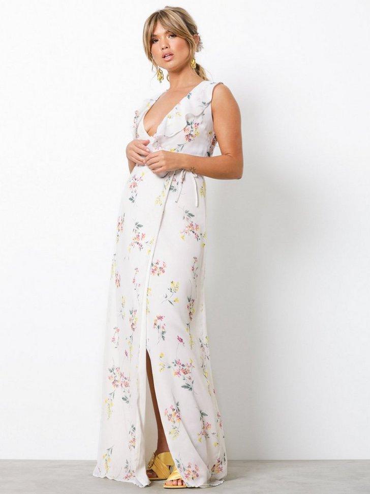 V Neck Frill Gown køb festkjole