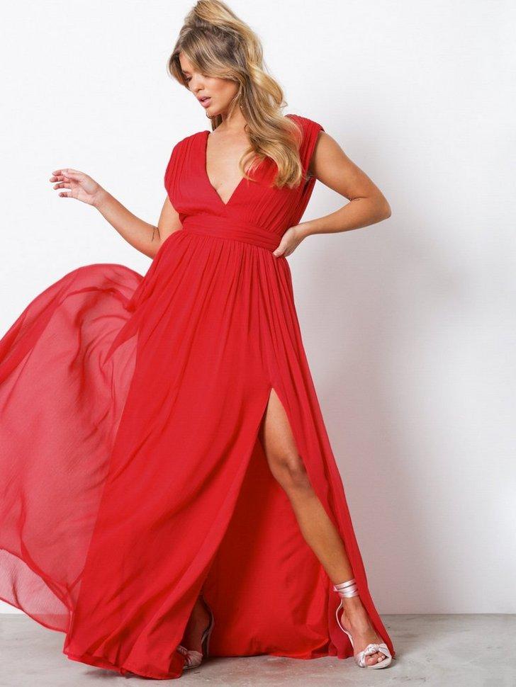 Sharp V Neck Gown køb festkjole
