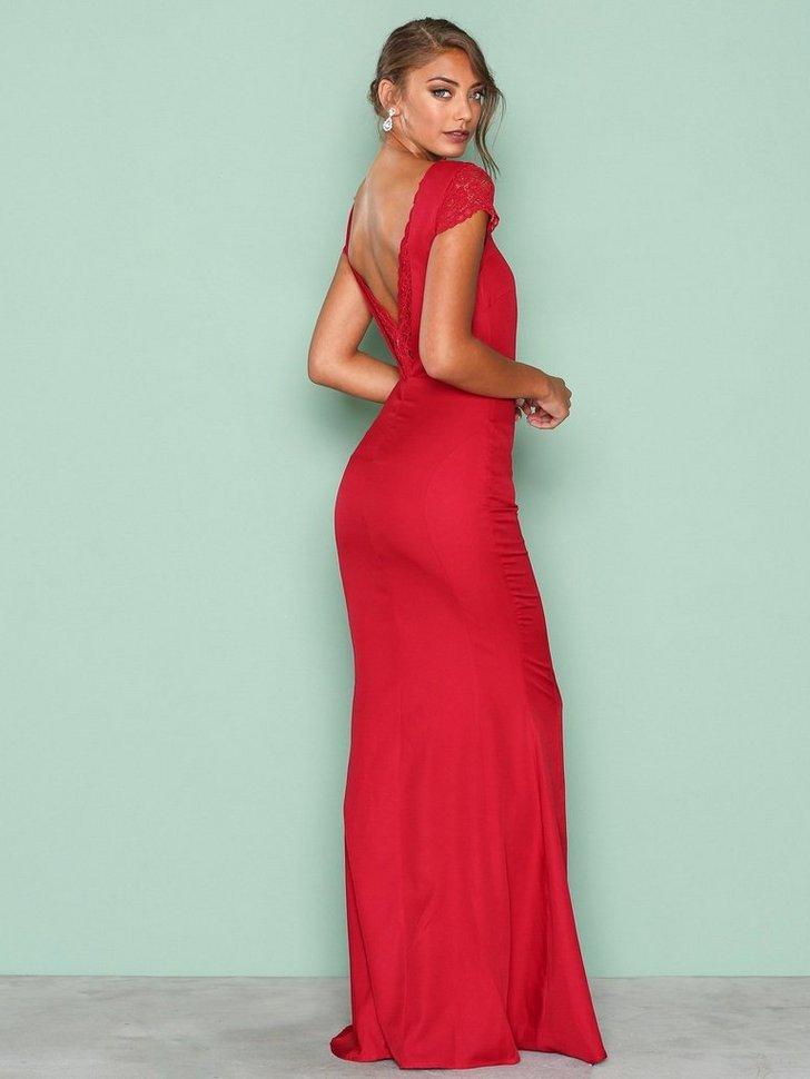 Festkjoler V Back Mermaid Gown - festtøj mode