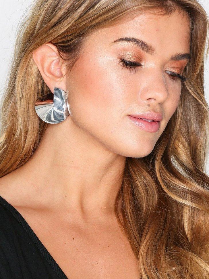 Smooth Disc Hoop Earring festtøj smykker