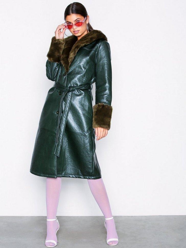 Nelly.com SE - Patent Fur Coat 998.00
