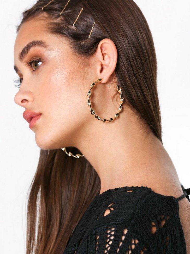 Swirl Hoop Earrings festtøj smykker