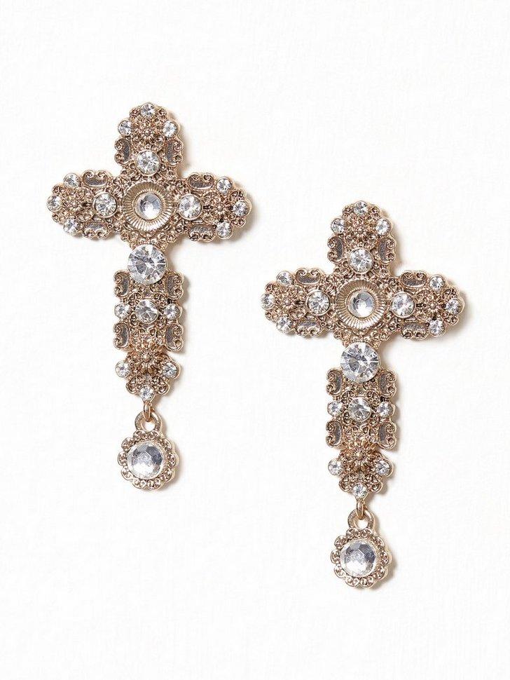 Cross Stone Earrings festtøj smykker