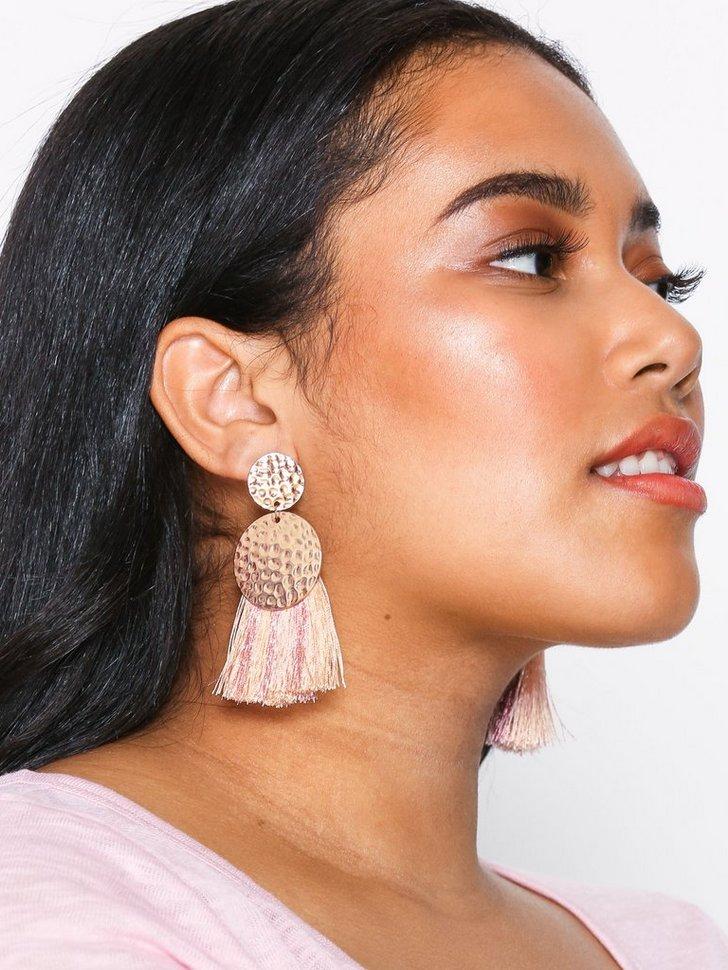 Hammered Tassle Earrings festtøj smykker