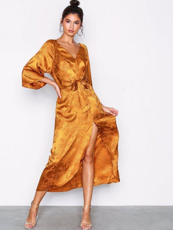Gallakjole festkjole Long Jacquard Dress festtøj