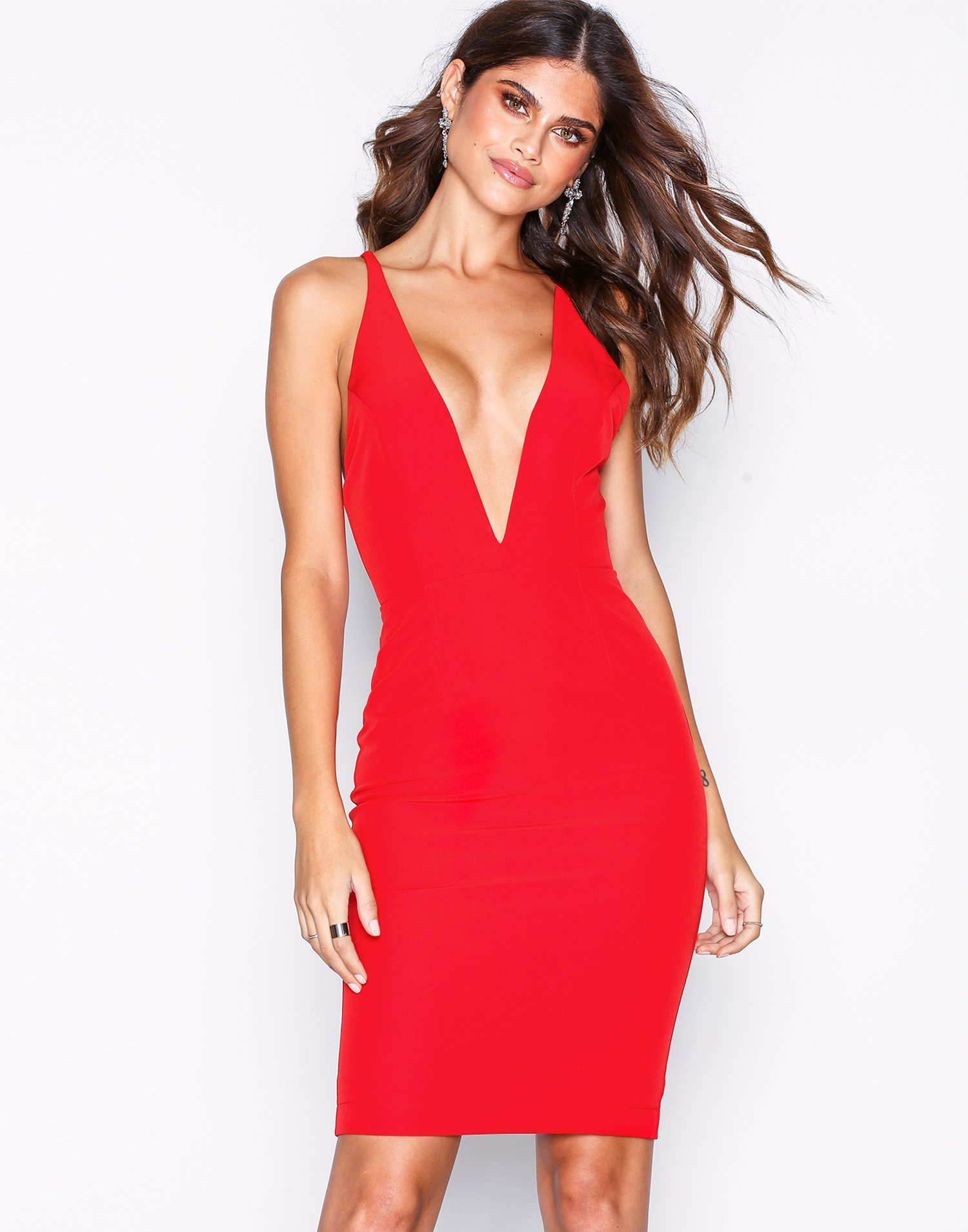 Deep Plunge Dress by Nly One