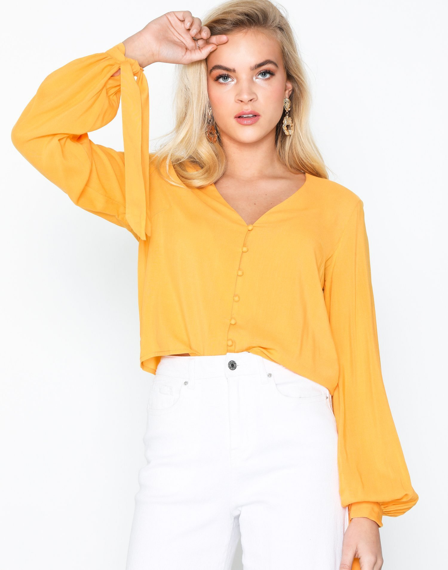 Front Button Blouse by Nly Trend